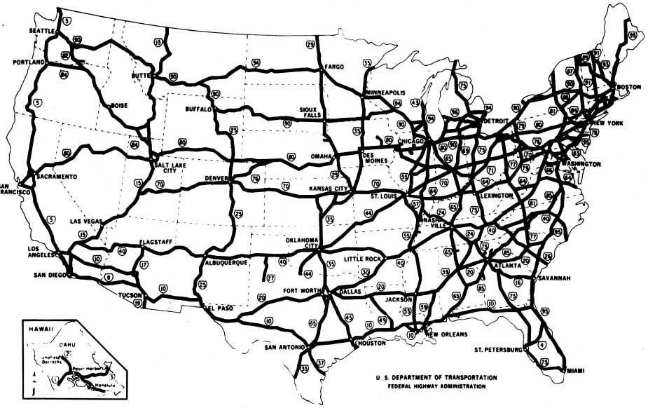 the final map of the interstate highway system